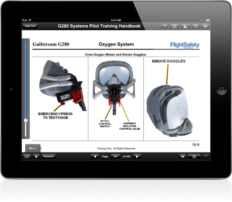 FlightSafety courseware for iPad