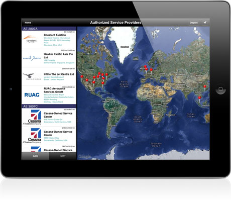 Service Locator App - iPad, iPhone, Android